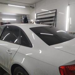 Тонирование задних стекол Audi A4 пленкой NDFOS 5%