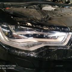Оклейка фар Audi A6 полиуретаном Spectrol