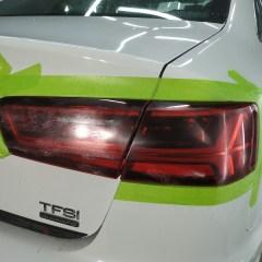 Полировка и бронирование оптики Audi A6
