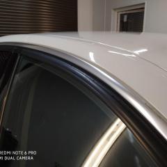 Хромированные молдинги BMW 3 в черный глянец.
