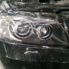 Оклейка фар BMW 3 E90 полиуретаном