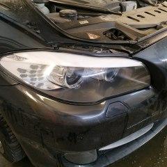 Обтяжка задней и передней оптики BMW E60 пленкой Never scratch grey