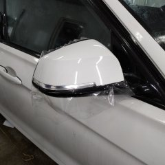 Передняя защита  BMW полиуретаном