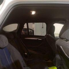 Тонировка задних стекол BMW X1 металлизированной плёнкой