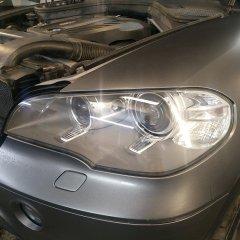 Рестайлинг фар BMW X5 e70 пленкой
