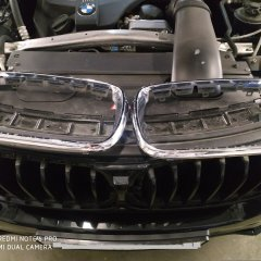 Покрытие хромированных деталей BMW X5 в черный глянец
