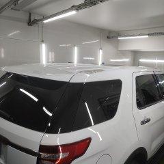 Покрытие верха Ford Explorer черным винилом