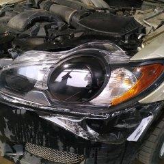 Оклейка полиуретаном фар Jaguar FX