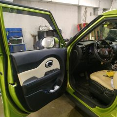 Тонирование задних стекол и передних дверей Kia Soul