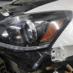 Бронирование оптики Lexus IS230 полиуретаном