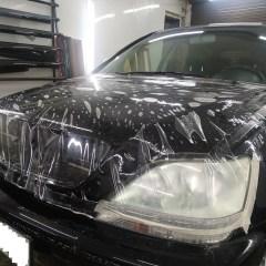 Антигравийная защита фар и капота Lexus RX