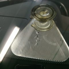 Удаление скола на стекле Lexus RX350
