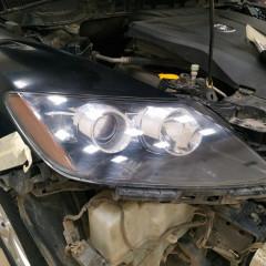 Защита оптики Mazda CX7 полиуретаном.