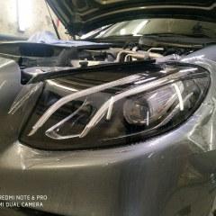 Защита фар Mercedes-Benz E-Класс пленкой Spectrol