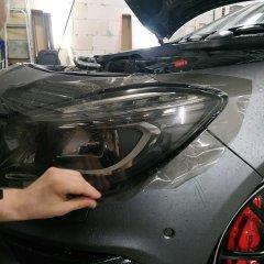 Бронирование фар с затемнением на Mercedes-Benz