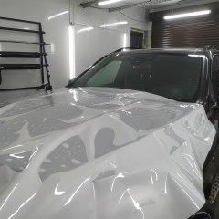 Бронирование капота Mercedes GLK пленкой
