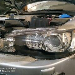 Тонировка защитным полиуретаном STEK оптики Mitsubishi Lancer