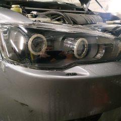 Бронирование фар Mitsubishi Lancer плёнкой Spectrol