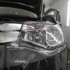 Защита фар Mitsubishi Outlander полиуретаном Spectrol