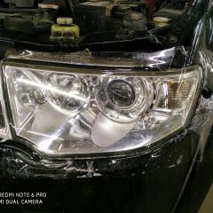 Покрытие оптики Mitsubishi Pajero полиуретаном