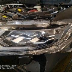 Обтяжка полиуретаном зеркал и оптики Nissan X-Trail