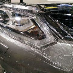 Защита фар Nissan X-Trail антигравийной пленкой