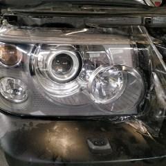 Антигравийное покрытие фар Range Rover плёнкой Spectrol