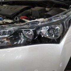 Бронирование фар Toyota Corolla полиуретаном