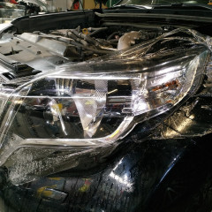 Защита фар Toyota Land Cruiser Prado 120 пленкой Spectrol